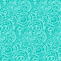 Seamless sea vector blue wave line pattern, sea background