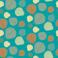 Seamless sealife vector pattern with shells Royalty Free Stock Photography