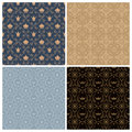 Seamless set four vintage backgrounds in vintage style. Royalty Free Stock Photo