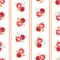 Seamless shabby chic rose pattern inspired background Royalty Free Stock Images