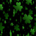 Seamless Shamrock background Stock Photos