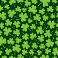 Seamless Shamrock Pattern Stock Photo