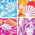 Seamless shell pattern Royalty Free Stock Photo
