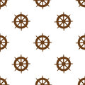 Seamless ships steering wheel vector pattern