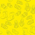 Seamless shoes fully editable vector illustration with Royalty Free Stock Image