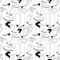 Seamless shoes pattern Royalty Free Stock Image