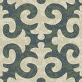Seamless shyrdak fleur de lis background pattern seafoam greay deep lichen green colors Royalty Free Stock Photos