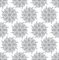 Seamless silver fancy leaves wallpaper vector Stock Photography
