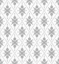 Seamless silver floral wallpaper Royalty Free Stock Photos