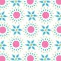 Bezešvý jednoduchý jaro květiny vzor