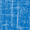 Seamless  simulating engineering blueprint Royalty Free Stock Photos