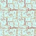 Seamless sketch coffee pattern
