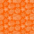 Seamless sketch orange carambola