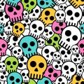 Seamless skull background Royalty Free Stock Photo