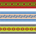 Seamless slavic pattern set of Stock Image