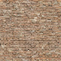 Seamless sloppy Brick Wall Royalty Free Stock Photo