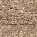 Seamless sloppy Brick Wall Royalty Free Stock Photo