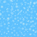 Seamless snow pattern vector illustration of Stock Image