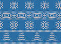 Seamless Snowflake Fair Isle Knit Royalty Free Stock Images