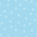 Seamless snowflake pattern blue background Royalty Free Stock Photography