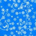 Seamless snowflake pattern vector illustration of a Stock Photography