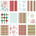 Seamless Holiday Background Patterns