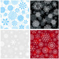 Seamless snowflakes background Stock Photo