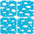 Seamless snowflakes background Royalty Free Stock Image