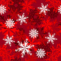 Seamless snowflakes background Royalty Free Stock Photos