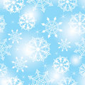 Seamless snowflakes background Stock Photography