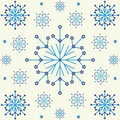 Seamless Snowflakes Background Pattern Stock Images