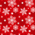 Seamless snowflakes pattern Stock Images
