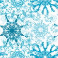 Seamless snowflakes pattern,  Royalty Free Stock Image