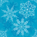 Seamless snowflakes pattern,  Royalty Free Stock Photo