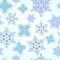 Seamless snowflakes pattern Royalty Free Stock Images