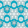 Seamless Snowflakes pattern Background for Christmas and New year. Vector Illustration Royalty Free Stock Photo