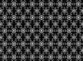 Seamless snowflakes pattern like firework on background.