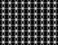 Seamless snowflakes pattern like a flower on background.