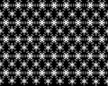 Seamless snowflakes pattern like a flower and leaf on background.