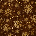 Seamless snowflakes and stars, winter wallpaper Royalty Free Stock Images