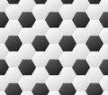 Seamless soccer black and white pattern. Vector sport background Royalty Free Stock Photo