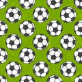 Seamless soccer pattern, vector background. Royalty Free Stock Photo