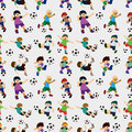 Seamless soccer player pattern Stock Photography