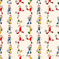 Seamless soccer player pattern Stock Photo