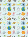 Seamless Space pattern Stock Images