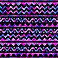Seamless space watercolor pattern. Bright striped background. Ha