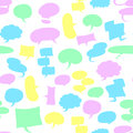 Seamless speech bubbles Royalty Free Stock Photos