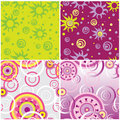 Seamless spin backgrounds Royalty Free Stock Photos