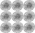 Seamless spiral dot repeat pattern with textures