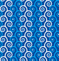 Seamless spirals background Royalty Free Stock Photo